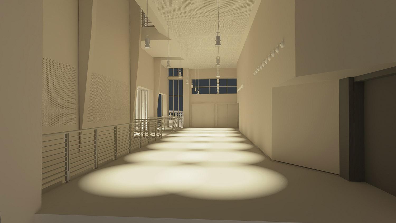 Foyer primo piano: spazio di accesso alla Sala ©AtelierTraldi