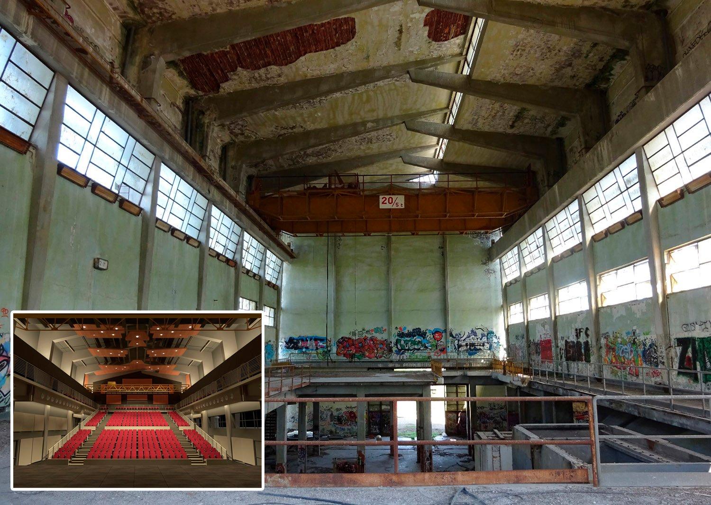 Il restauro del moderno, stato attuale e progetto (veduta dello spazio interno) ©AtelierTraldi}