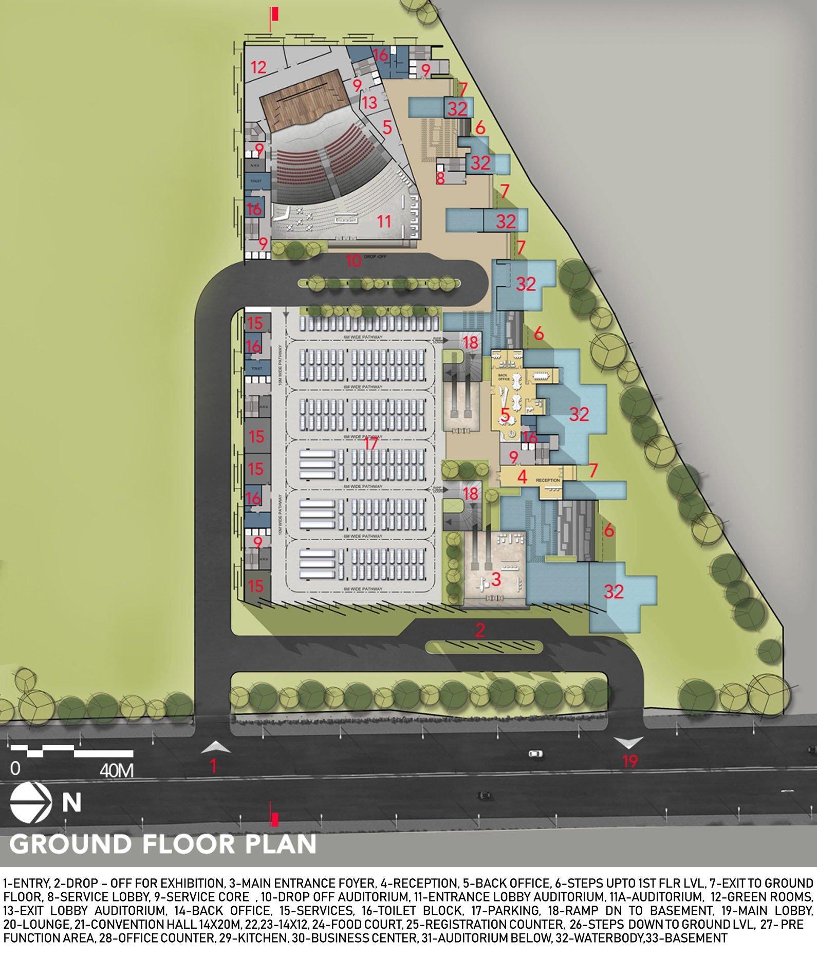 GROUND FLOOR PLAN sanjay puri architects