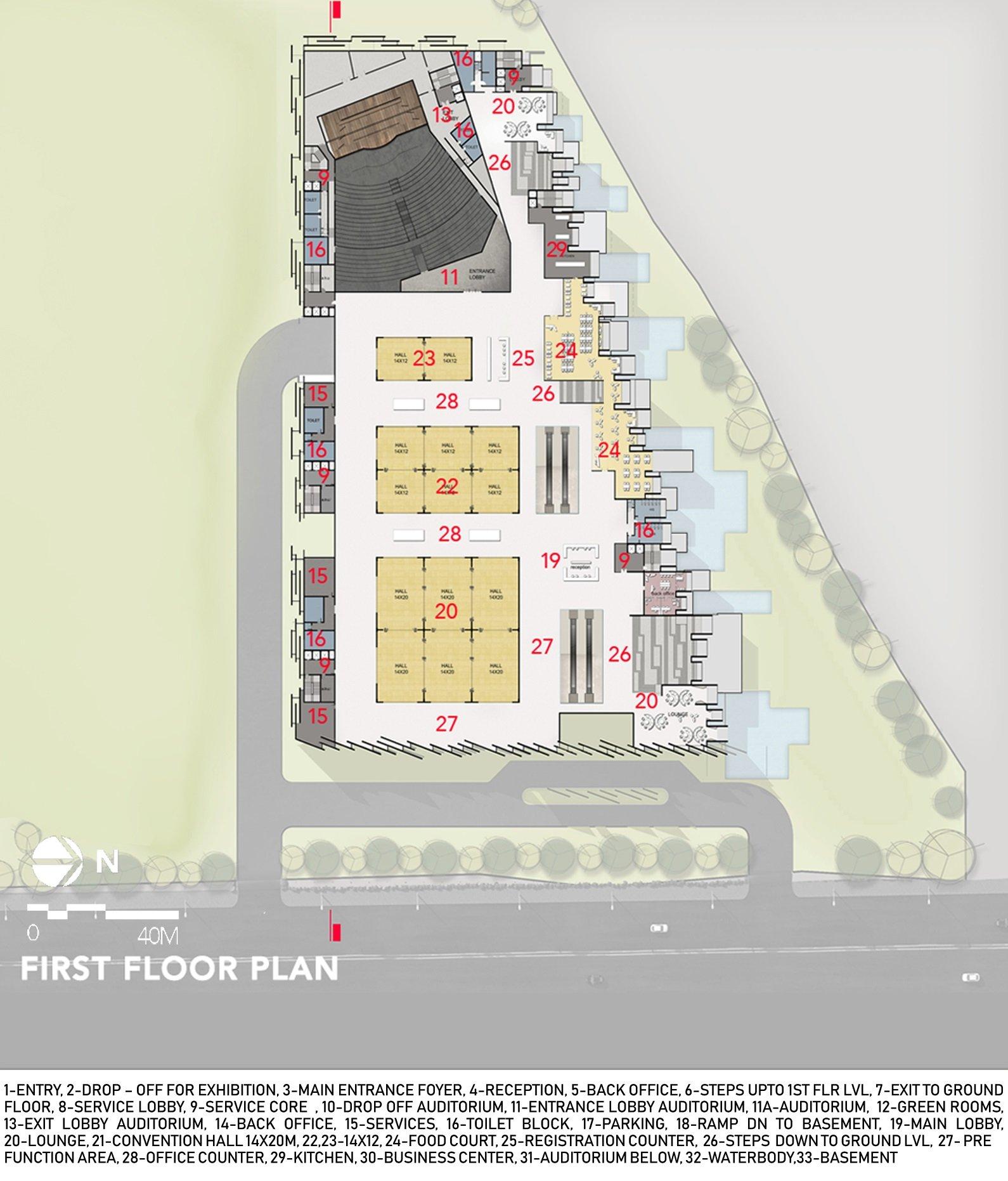 FIRST FLOOR PLAN sanjay puri architects