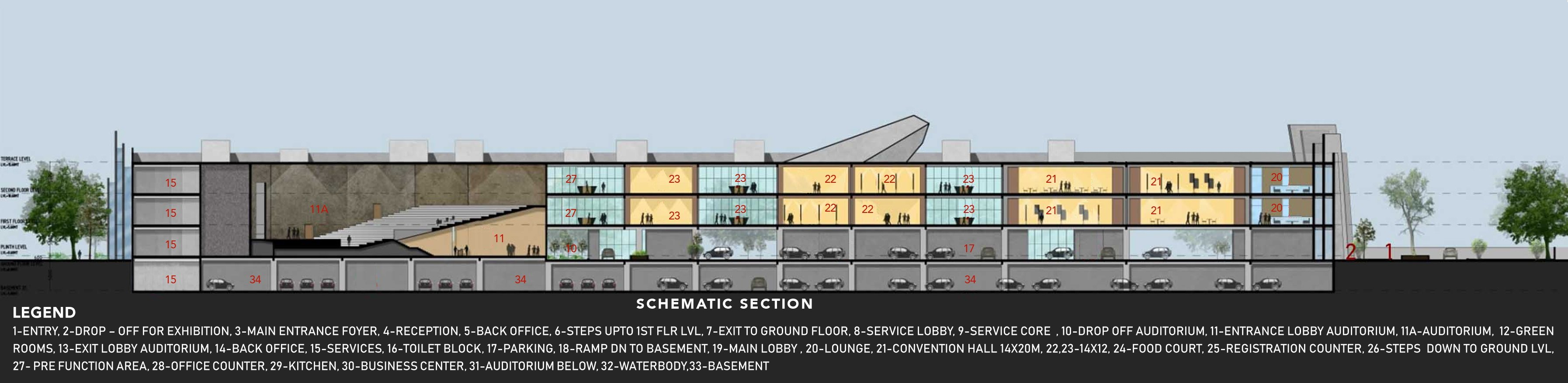 SCHEMATIC SECTION sanjay puri architects