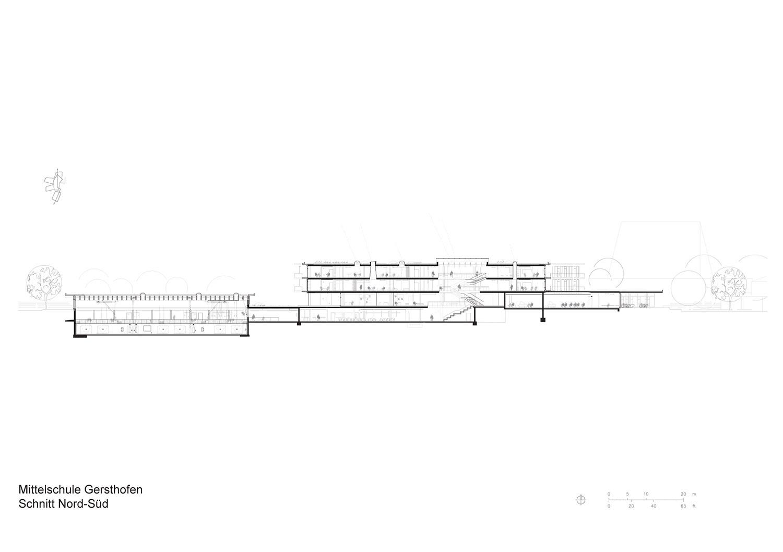 Section North-South Behnisch Architekten}