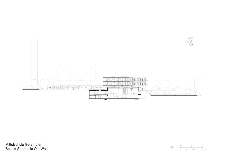 Section Gymnasium Behnisch Architekten}