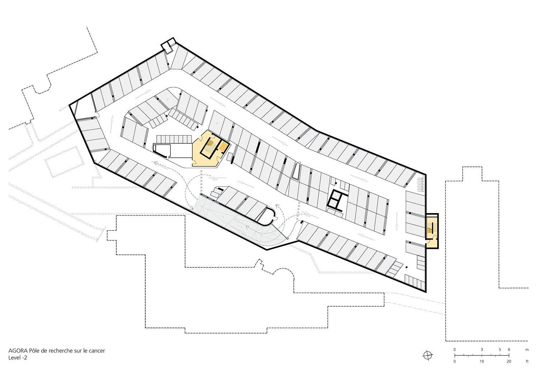 Floor Plan Underground Parking Level -2 Behnisch Architekten}