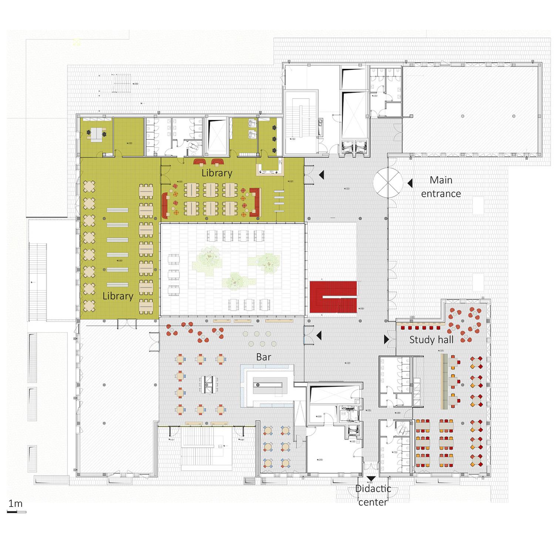Hub building ground floor FTA}