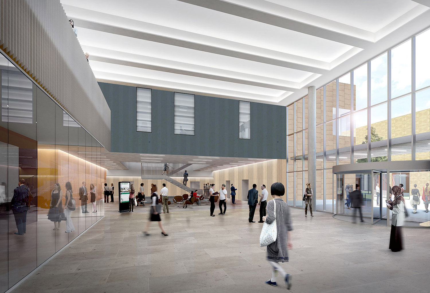 Rendering - Didactic center entrance hall FTA}