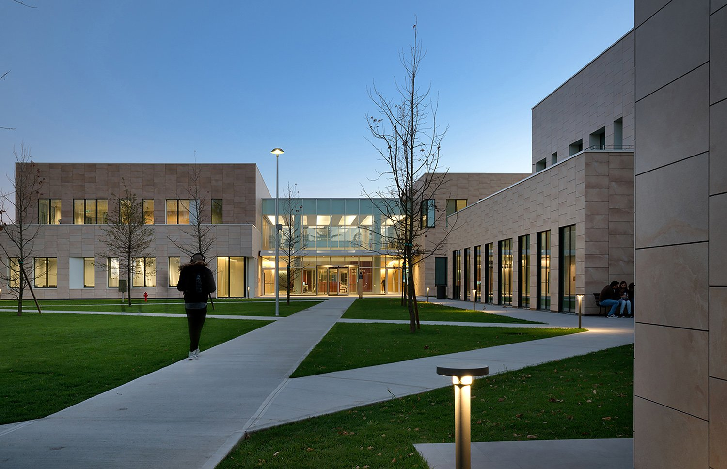 View of the Didactic center from the Campus courtyard Andrea Martiradonna