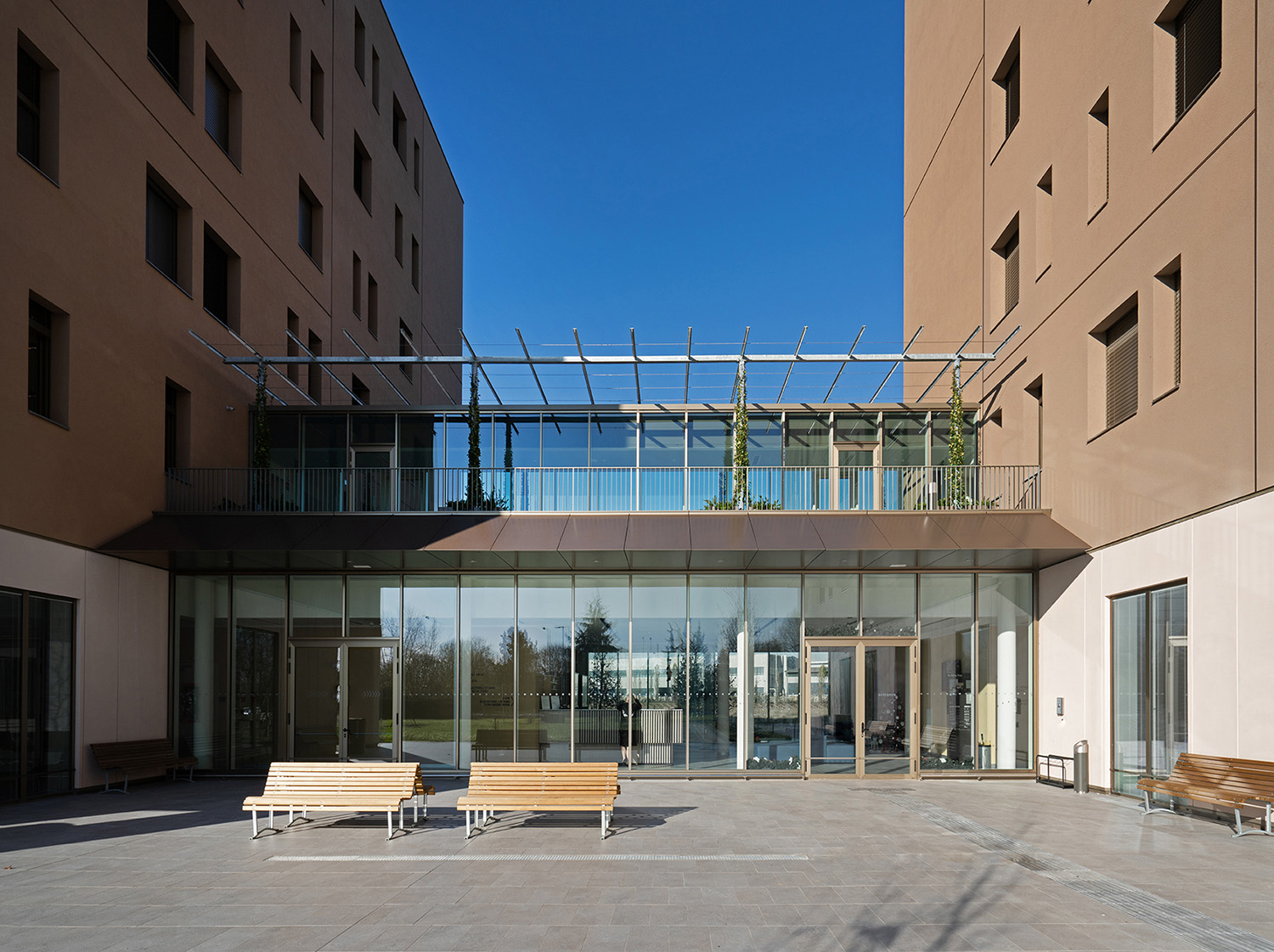 The entrance to the student house building Andrea Martiradonna