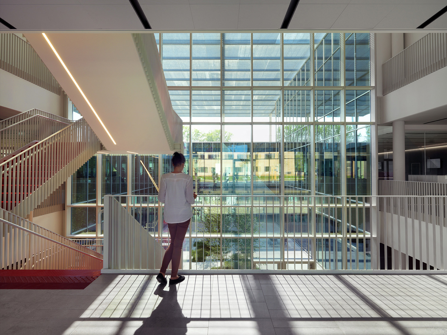 The entrance hall in the Hub building Andrea Martiradonna