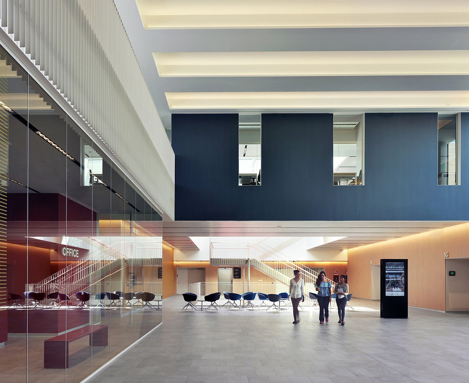 The entrance hall in the Didactic center Andrea Martiradonna
