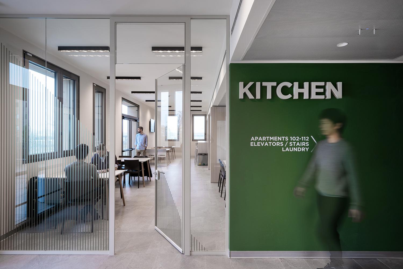 The Mario Luzzatto Student House communal kitchen Andrea Martiradonna
