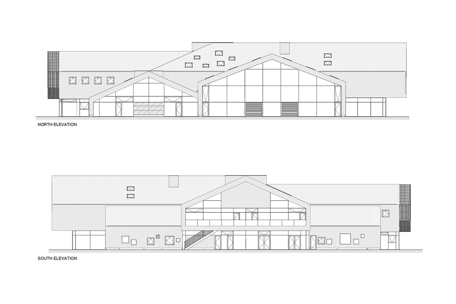 Elevations_North-South C.F. Møller Architects}