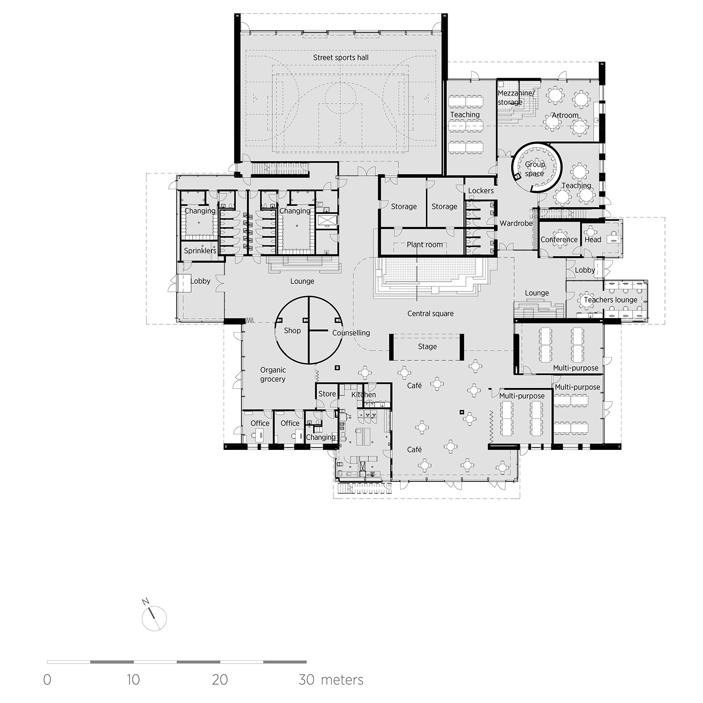 Groundfloor plan C.F. Møller Architects}