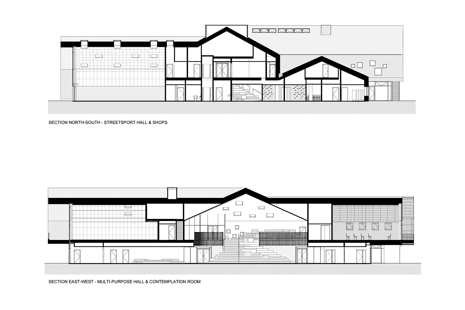 Sections_East-West C.F. Møller Architects}