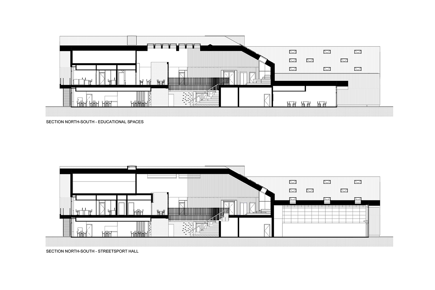 Sections_North-South C.F. Møller Architects}