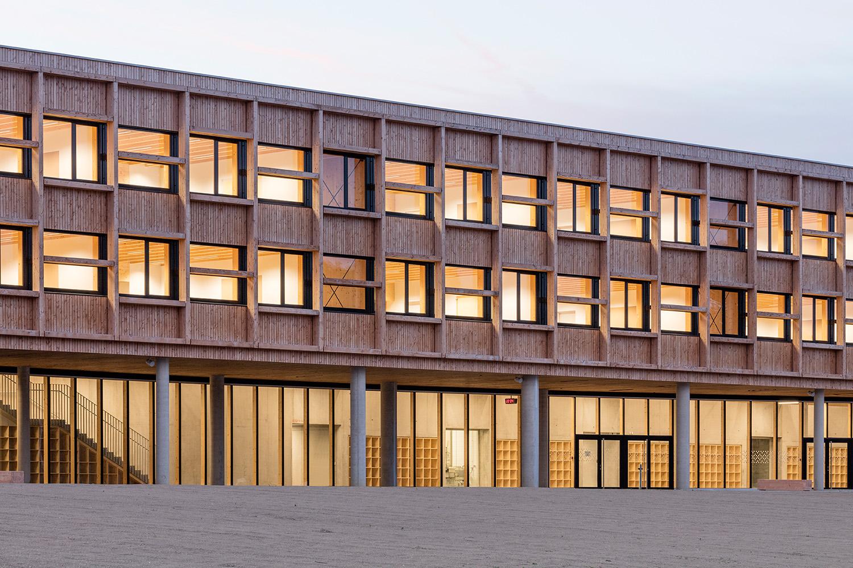 College Lamballe - facade to the courtyard Luc Boegly