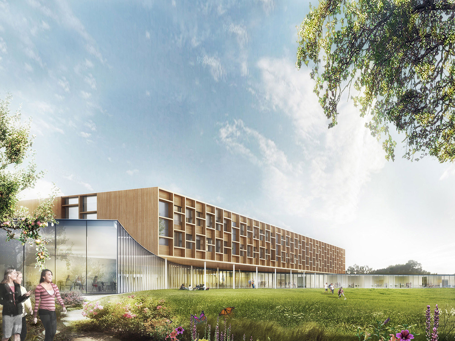 College Lamballe - rendering competition Dietrich | Untertrifaller}