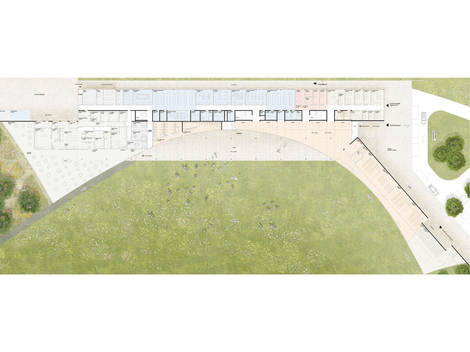 College Lamballe - ground floor competition Dietrich | Untertrifaller}
