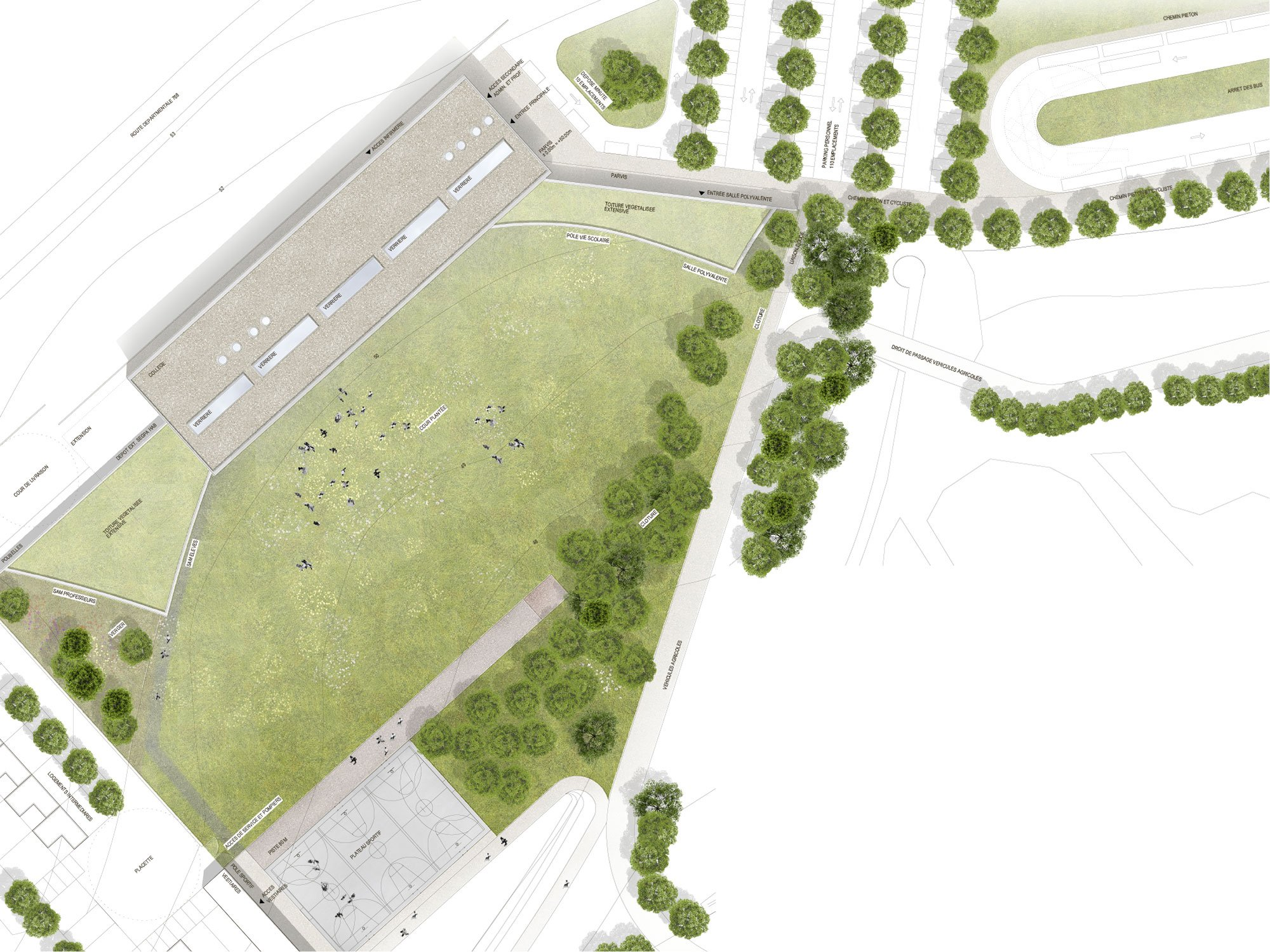 College Lamballe - site competition Dietrich | Untertrifaller}