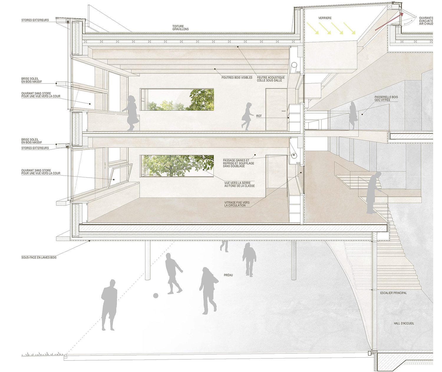 College Lamballe - section detail competition Dietrich | Untertrifaller}