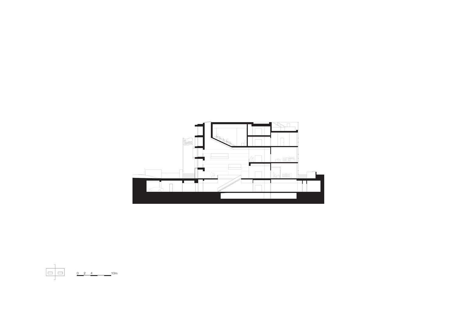 Cross section auditorium KAAN Architecten}