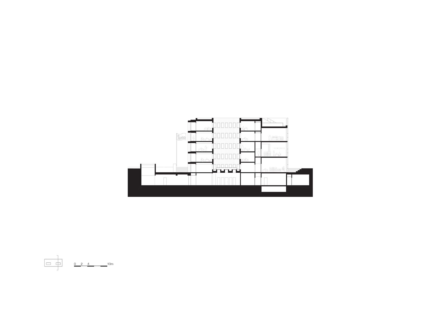 Cross section courtyard KAAN Architecten}