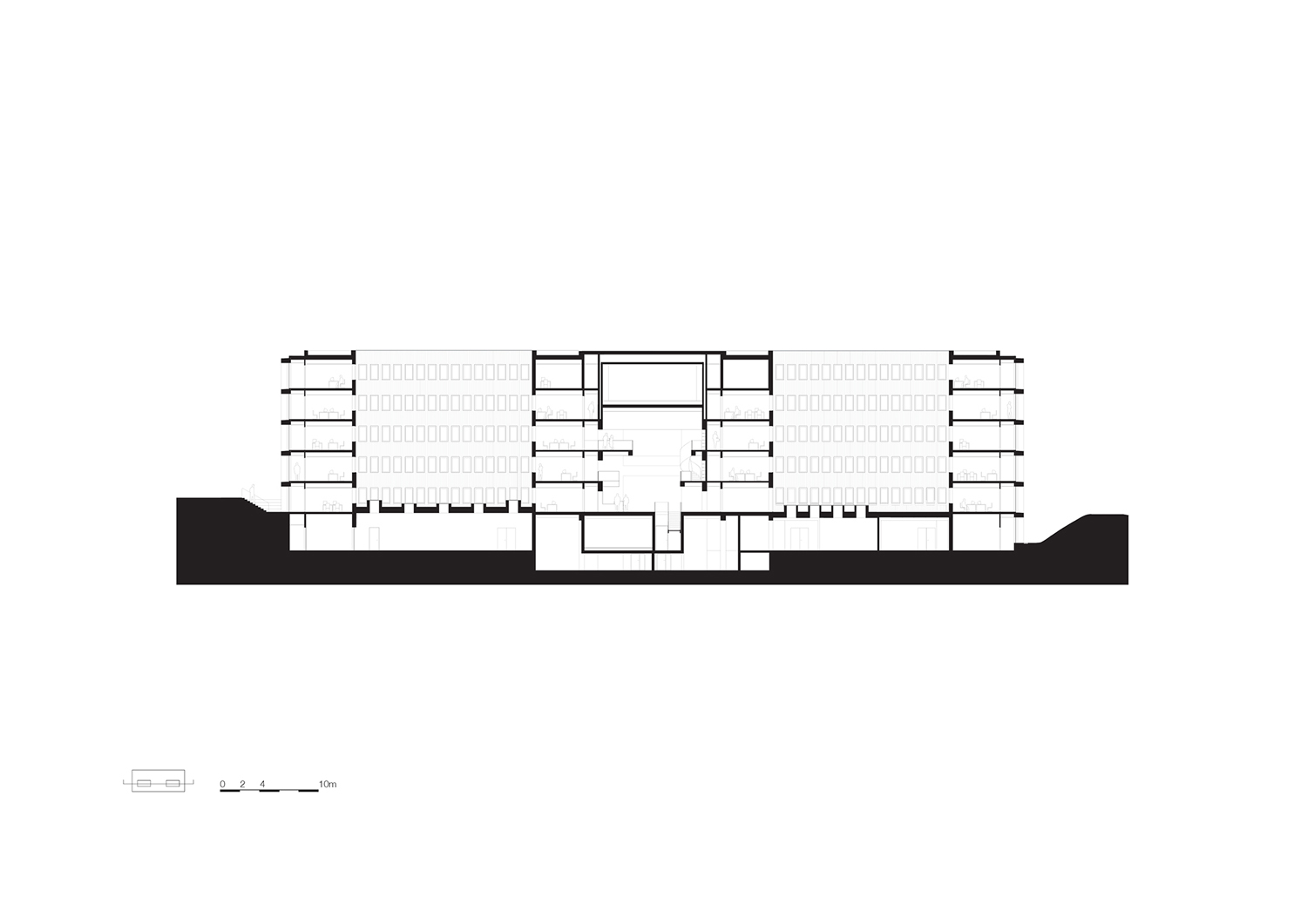 Long section KAAN Architecten}