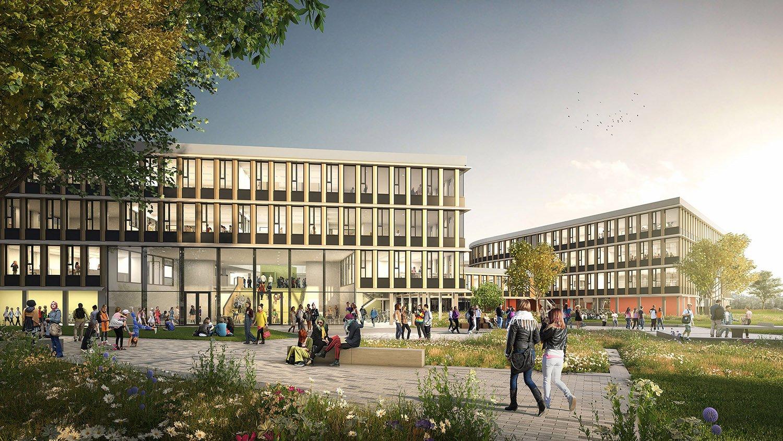 Campus Lelystad exterior view © Kraaijvanger Architects