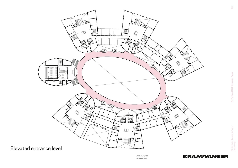 Elevated entrance level © Kraaijvanger Architects}