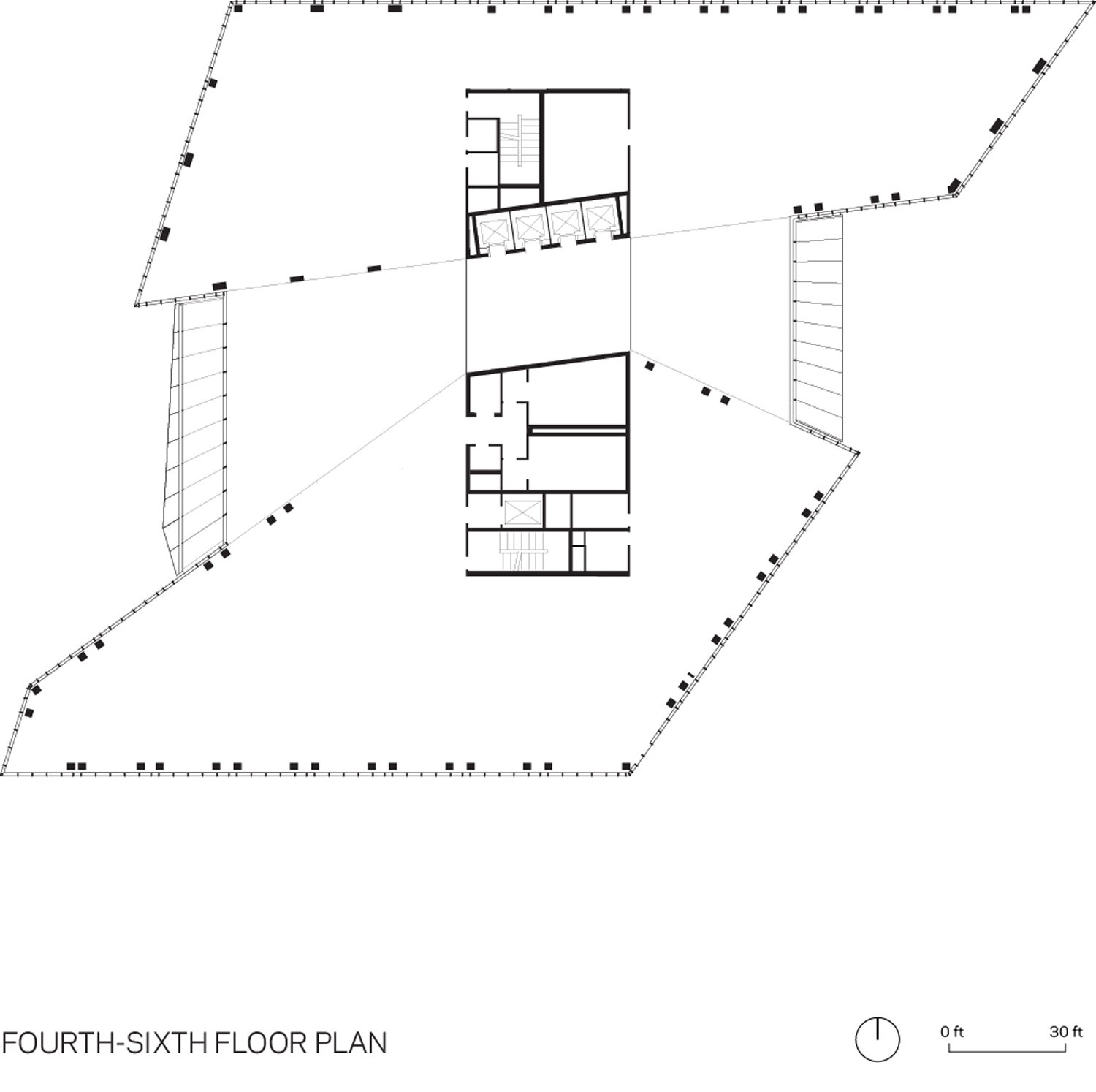 FOURTH TO SIXTH FLOOR PLAN WEISS/MANFREDI}