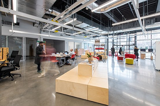 Ground floor Accelerate and maker space Langer Hsu