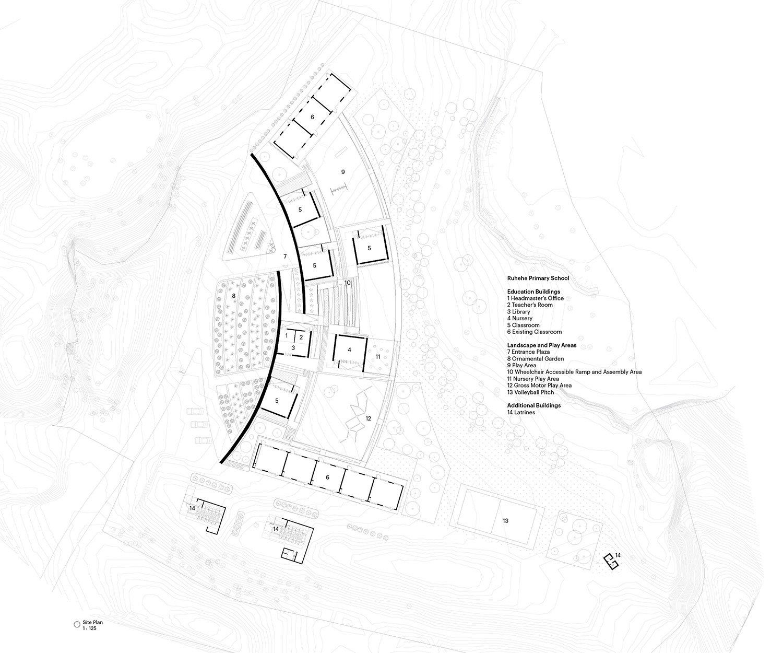 Ruhehe Primary School Site Plan MASS Design Group}