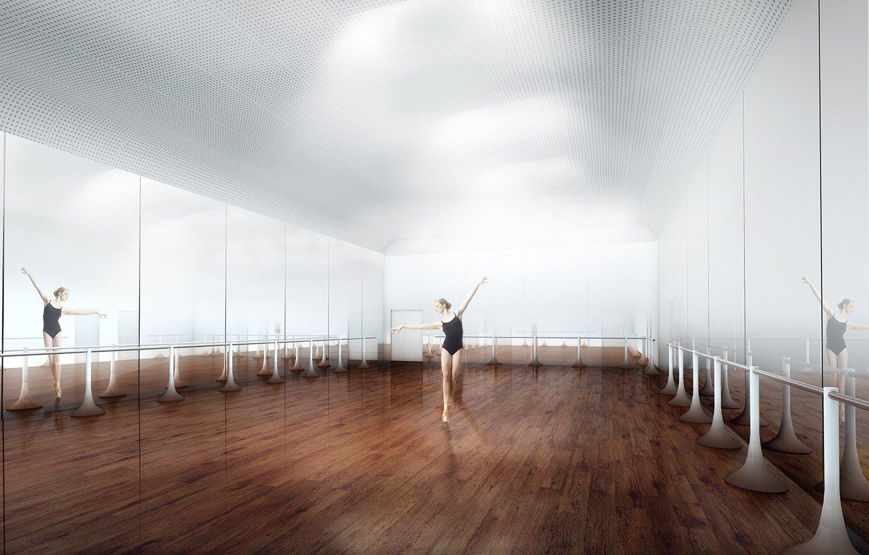 Dancing room Rendering © RSAA/ Büro Ziyu Zhuang}