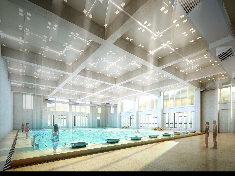 Swimming pool Rendering © RSAA/ Büro Ziyu Zhuang}