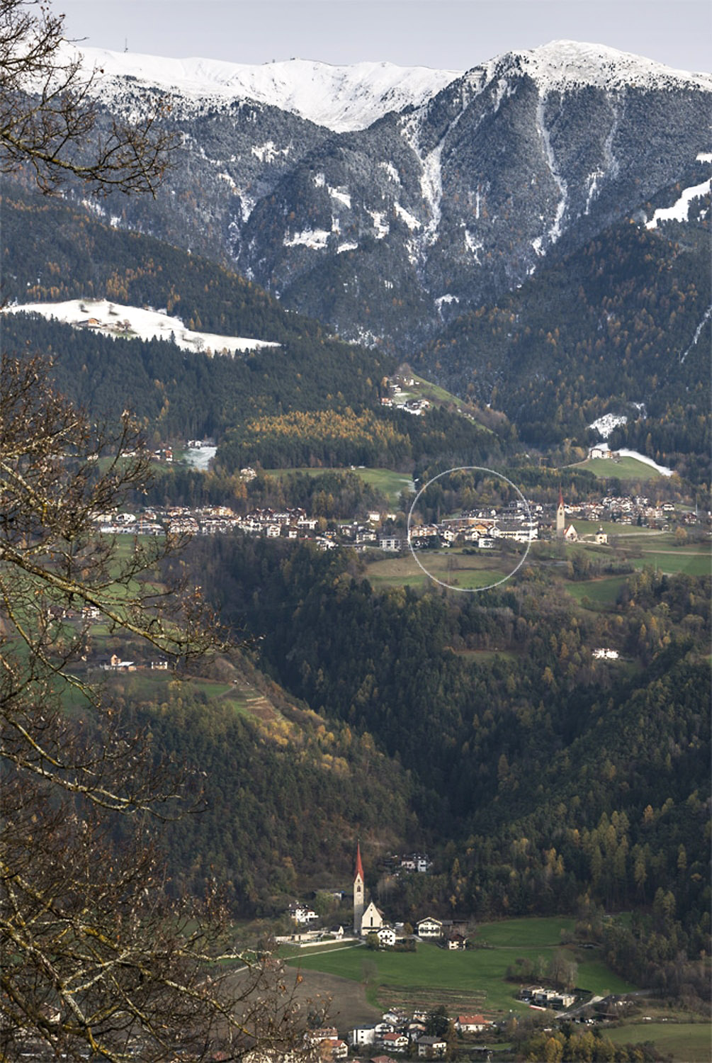 View towards the town of S. Andrea from across the Isarco Valley Oliver Jaist