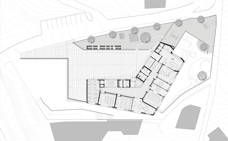 First floor plan: Elementary School MoDusArchitects}