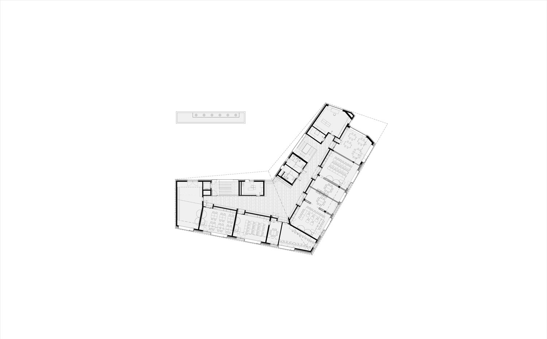 Second floor plan: Elementary School MoDusArchitects}