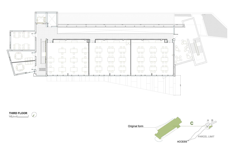 THIRD FLOOR - BUILDING C ROMERA Y RUIZ ARQUITECTOS}