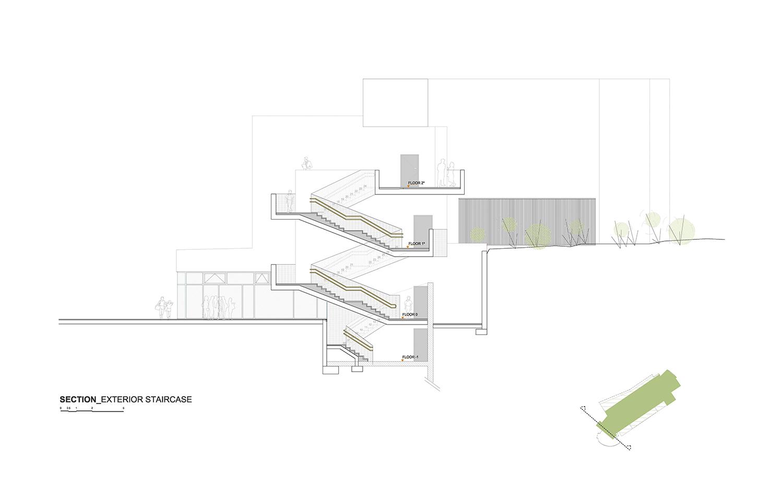 SECTION - BUILDING C ROMERA Y RUIZ ARQUITECTOS}