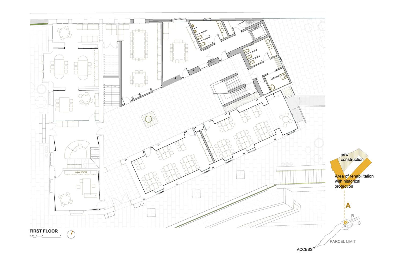 FIRST FLOOR - BUILDING A ROMERA Y RUIZ ARQUITECTOS}