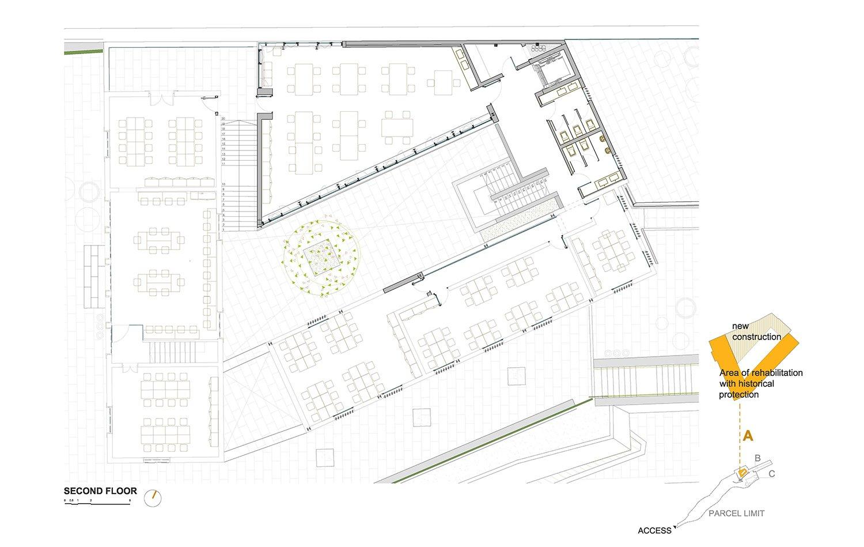 SECOND FLOOR - BUILDING A ROMERA Y RUIZ ARQUITECTOS}