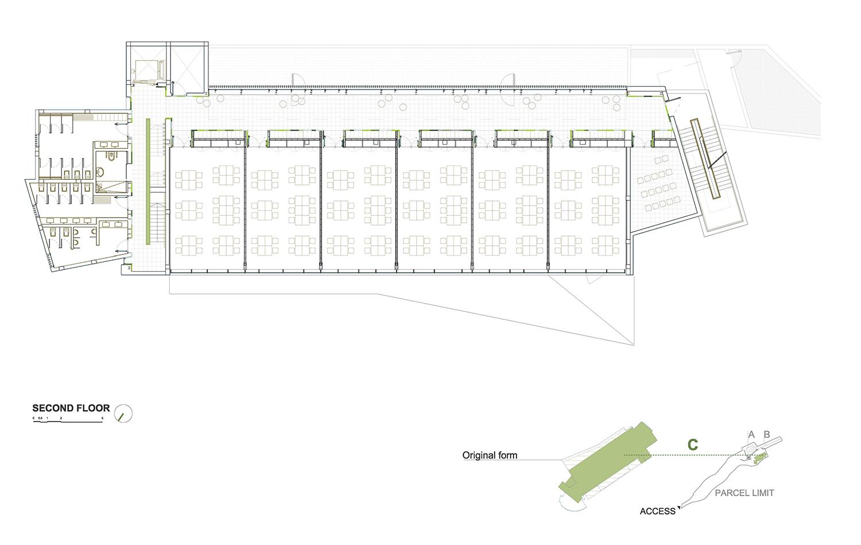 SECOND FLOOR - BUILDING C ROMERA Y RUIZ ARQUITECTOS}
