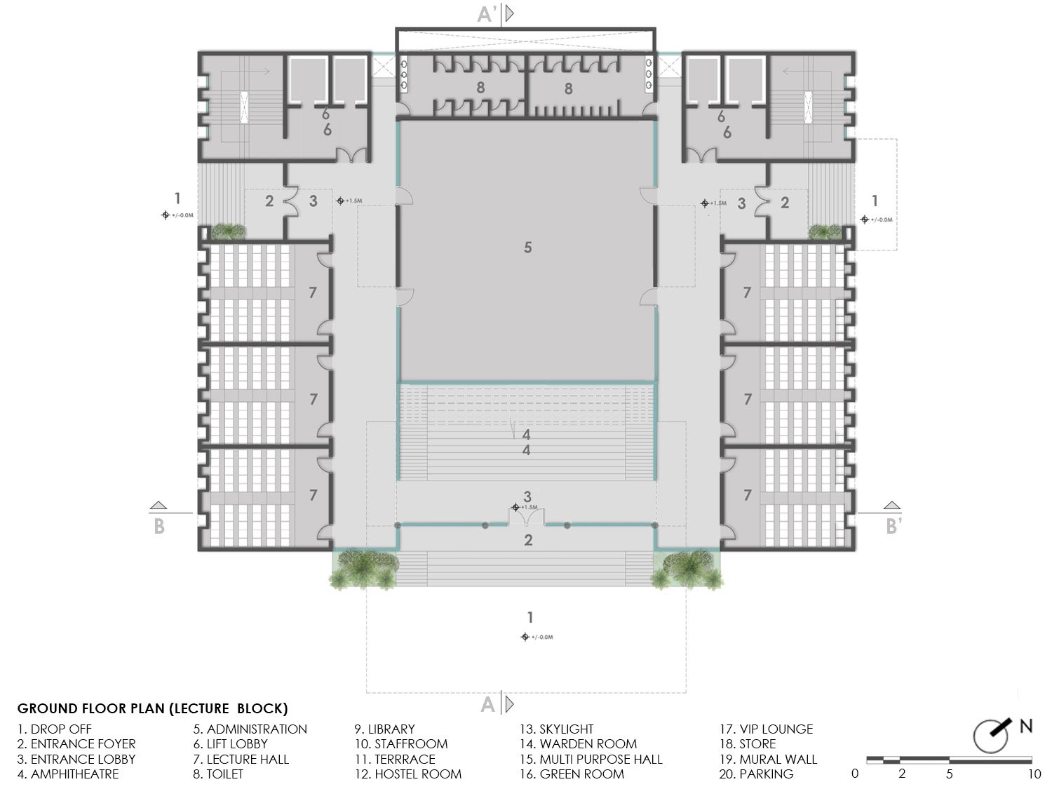 GROUND FLOOR PLAN KNS ARCHITECTS}