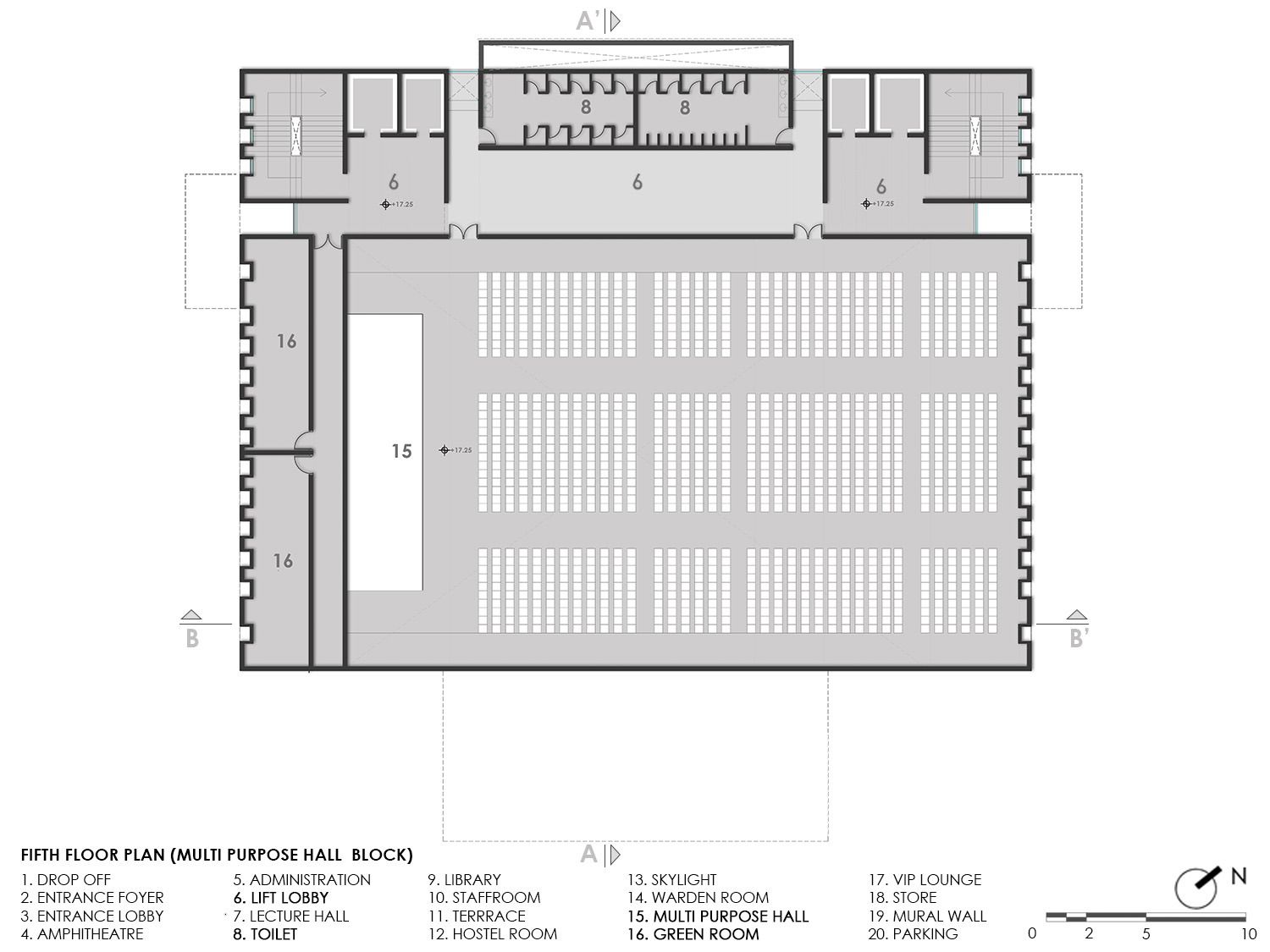 FIFTH FLOOR PLAN KNS ARCHITECTS}