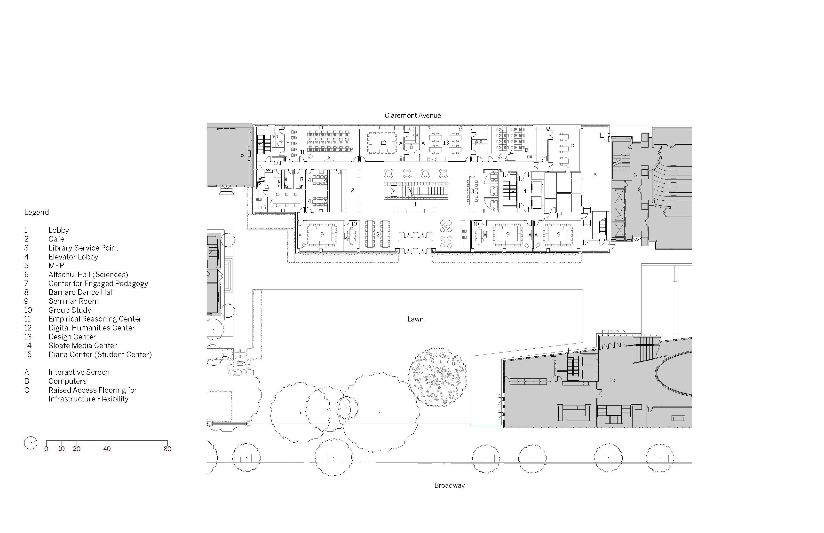 Ground Level Floor Plan Image © SOM}
