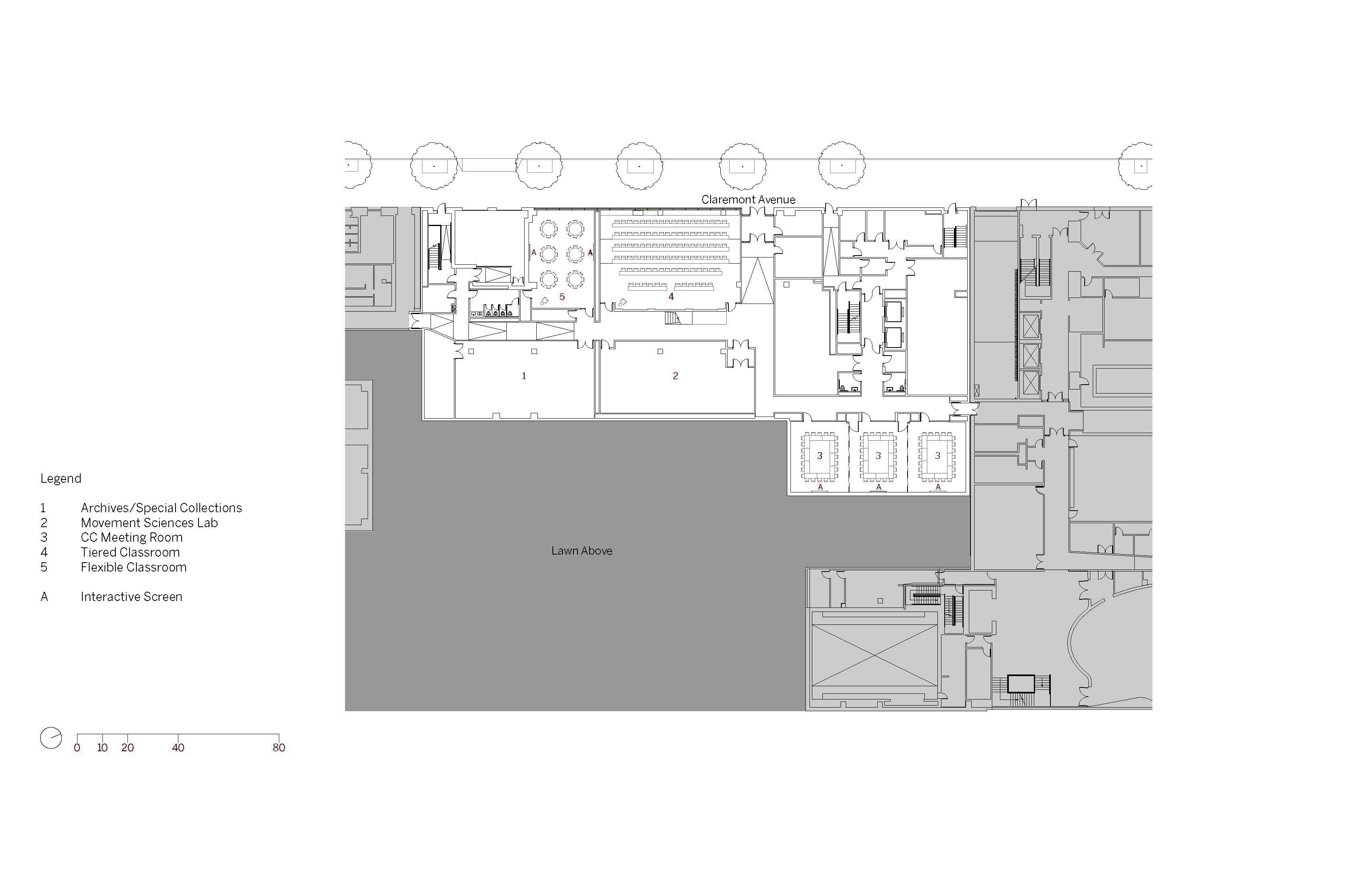 Lower Level Floor Plan Image © SOM}
