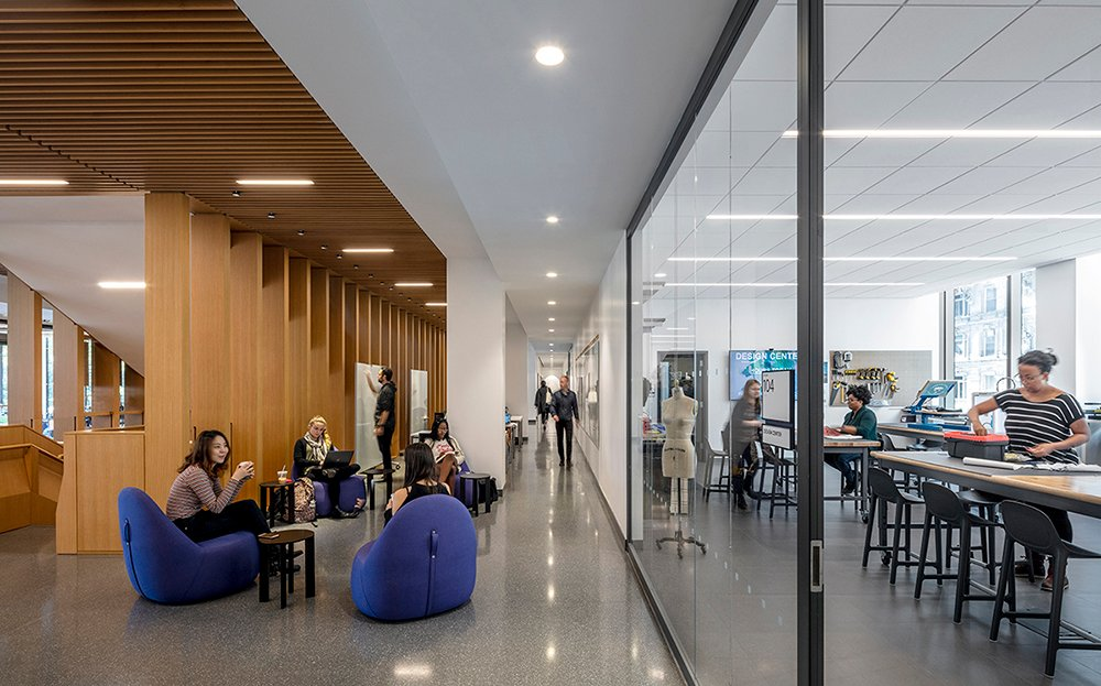 View into the Design Center Courtesy SOM / © Magda Biernat