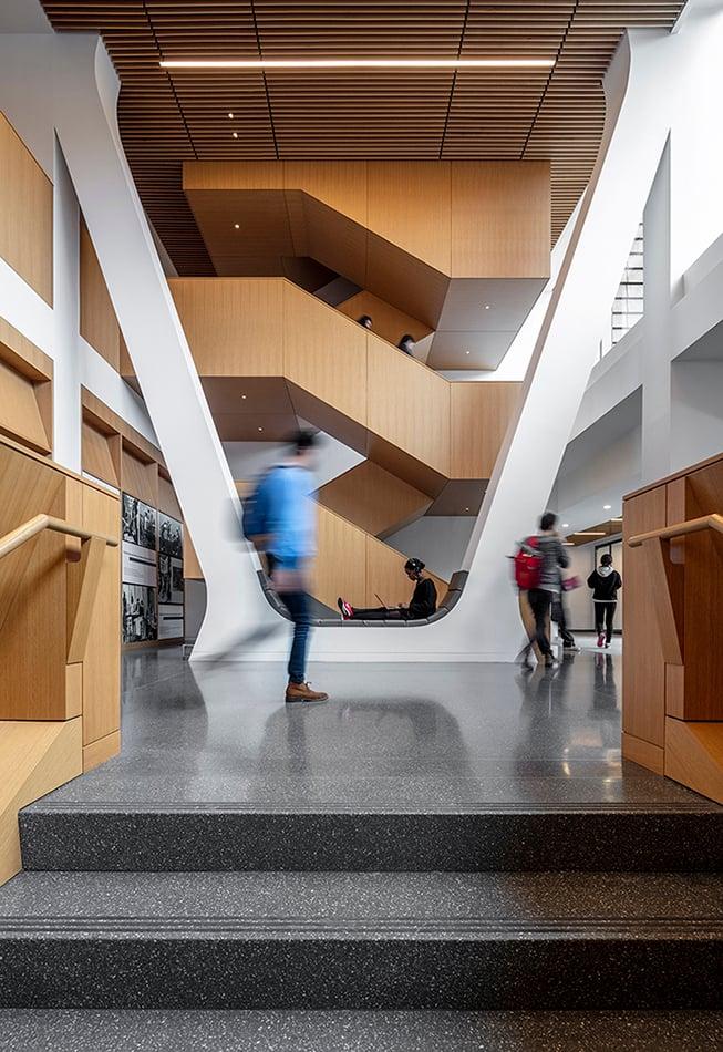 Top step of the library Courtesy SOM / © Magda Biernat