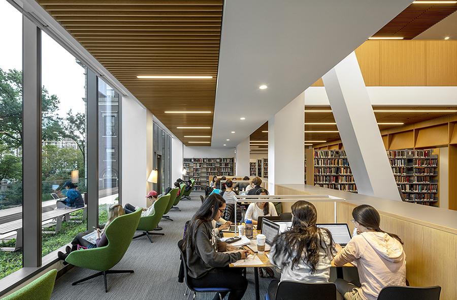 Library study space Courtesy SOM / © Magda Biernat