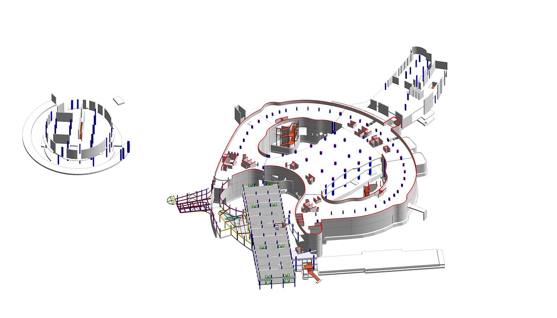 Vista del modello strutturale estratto dal BIM LFA}